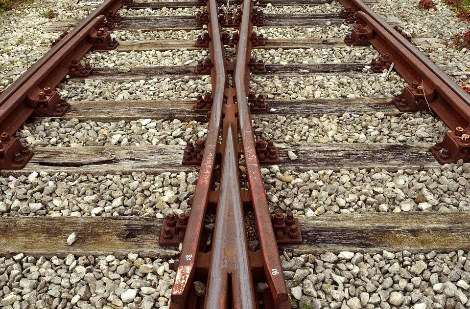 Dos vías de tren