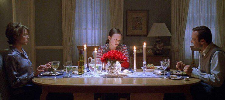 Escena de cena en la película American Beauty
