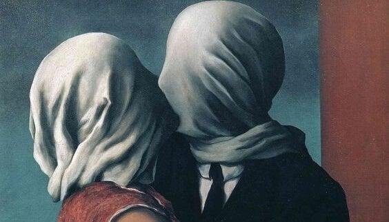 pareja con velo besándose representando las frases de Jacques Lacan