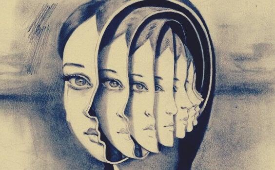 imagen mujer fragmentada que escucha una voz en tu cabeza