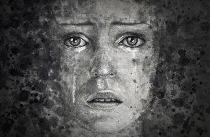 Mujer con depresión llorando