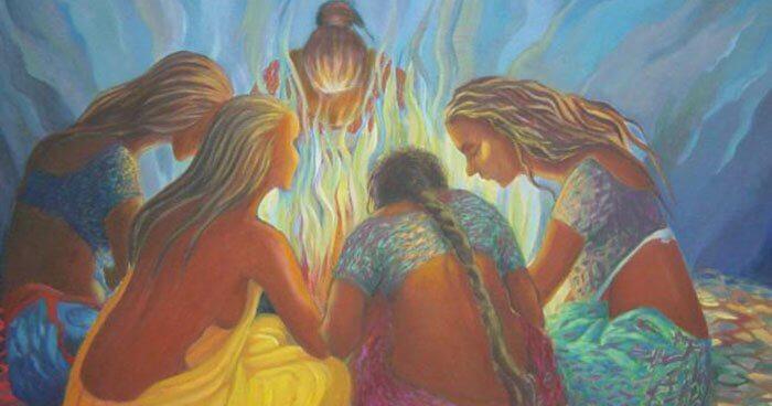 mujeres unidas representando la sororidad