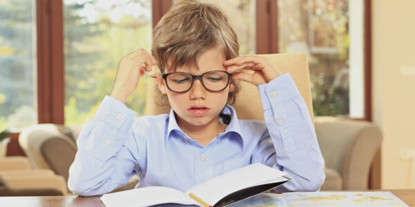 Los deberes en los niños