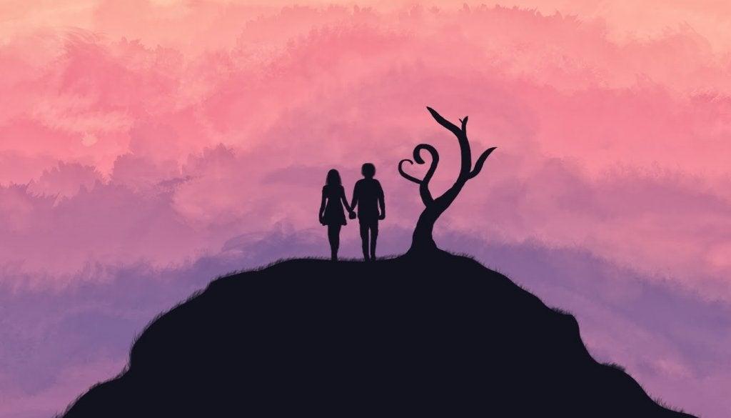 pareja que representa frases de amor en la literatura