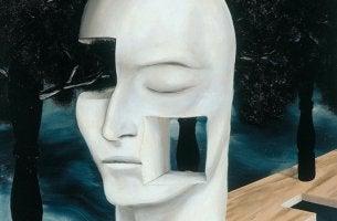 rostro representando las frases de Jacques Lacan