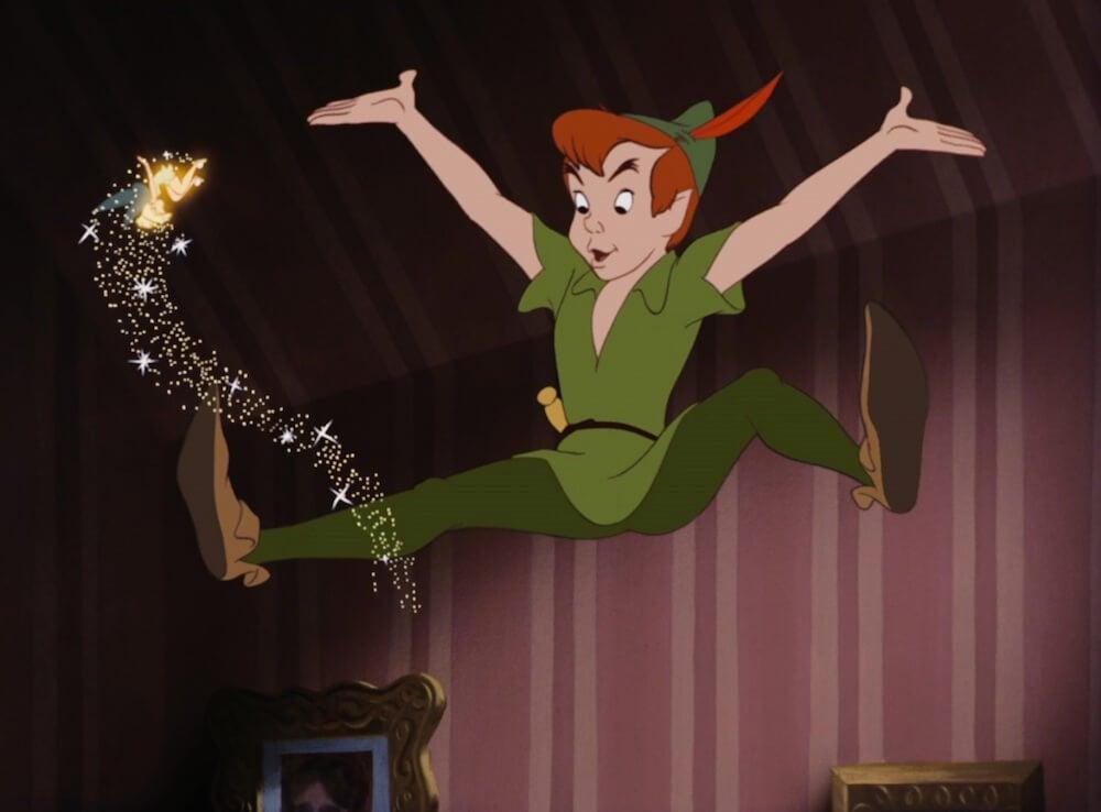 Peter pan con campanilla