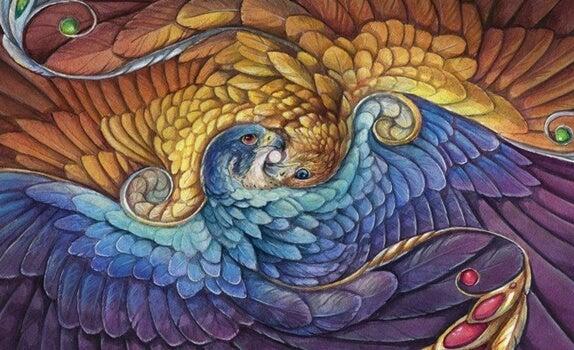 aguilas representando la sabiduría Tolteca