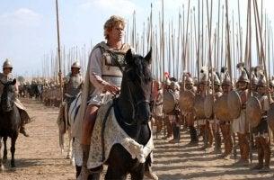 Alejandro Magno sobre un caballo blanco para representar los tipos de libido