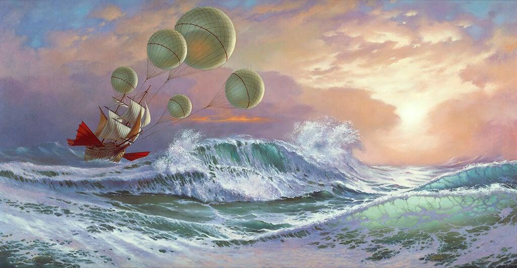 barco en océano representando las frases de frases de John Locke