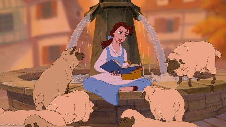 Bella leyendo un libro