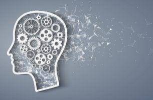 Cabeza con mecanismos para representar la metacognición