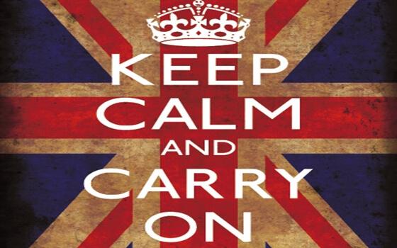 cartel mantener la calma y seguir adelante