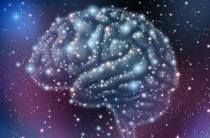 Cerebro formado por estrellas para explicar el funcionamiento de los neurotransmisores