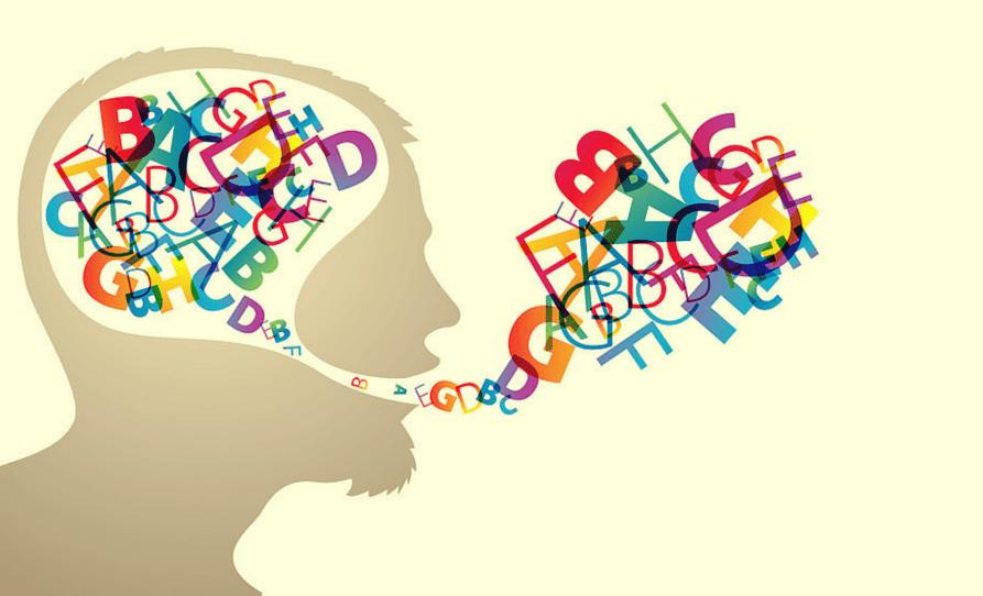 cerebro recibiendo palabras gracias a una conversación positiva