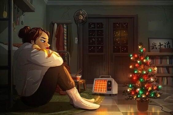 Chica pensando en frases para comenzar el nuevo año