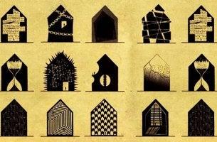 casas que representan trastornos mentales