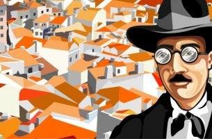 Ilustración representando las frases de Fernando Pessoa