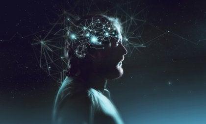 Hombre con luces en su mente