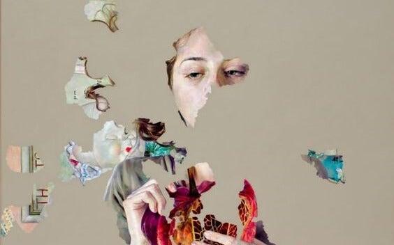 Mujer fragmentada sometida a chantaje emocional
