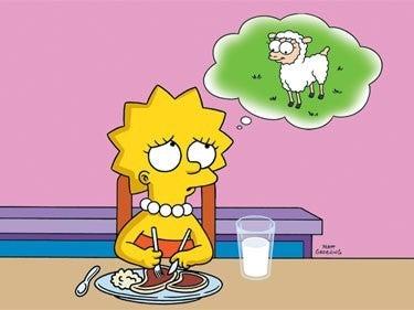 Lisa pensando en una oveja