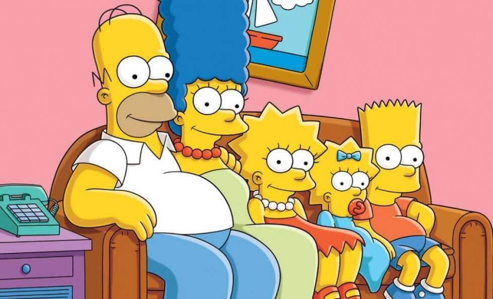Los Simpson en el sofá