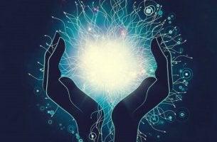 manos que contienen energía representando las claves de la PNL