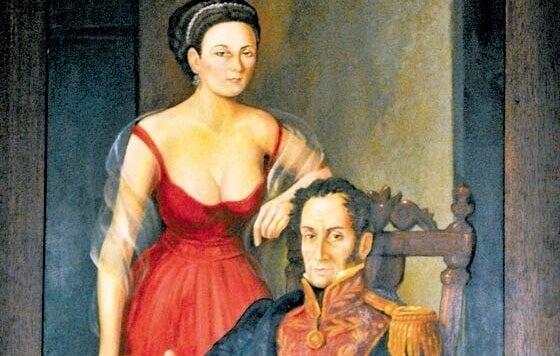 Manuelita y Bolívar