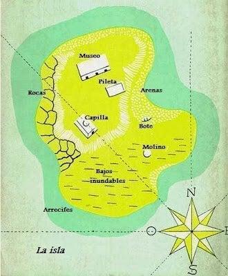 Mapa de la invención de Morel