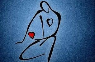 Monigote con un corazón