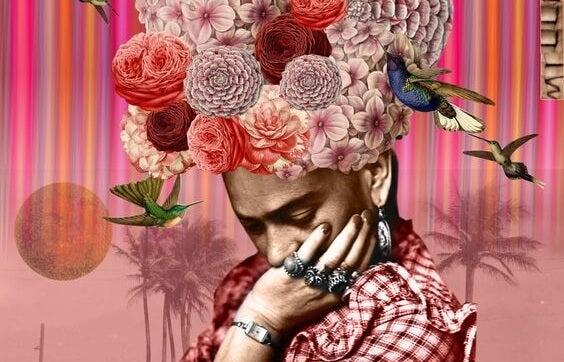 mujer con flores en la cabeza pensando que cambiar no es fácil