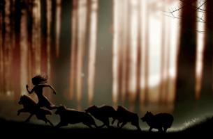 Mujer corriendo simbolizando frases del libro las mujeres que corren con los lobos