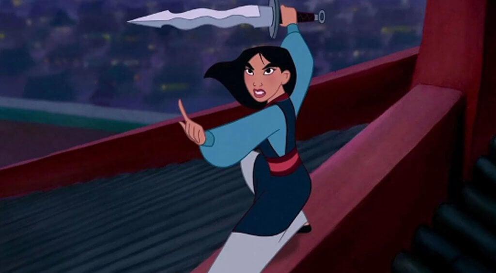 Mulan peleando