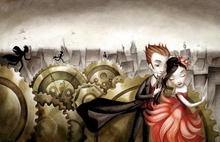 pareja representando el decálogo del amor