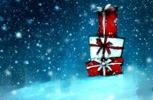 Regalos de Navidad con un caleidoscopio en su interior