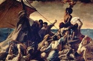 cuadro de la Balsa de la Medusa simbolizando el mito de la nave de los locos