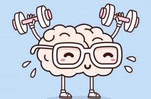 Cerebro haciendo deporte