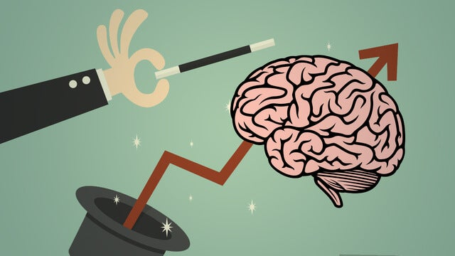 cerebro que sale de una chistera representando la economía de Joseph E. Stiglitz
