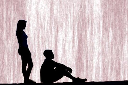 pareja tras finalizar una relación