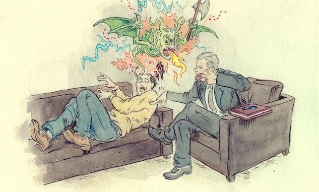 ilustración donde la psicoterapia fracasa