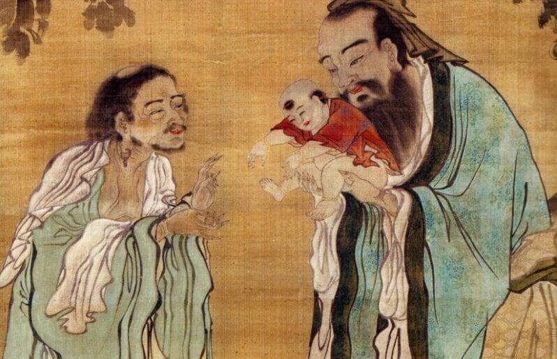 lámina representando los proverbios chinos
