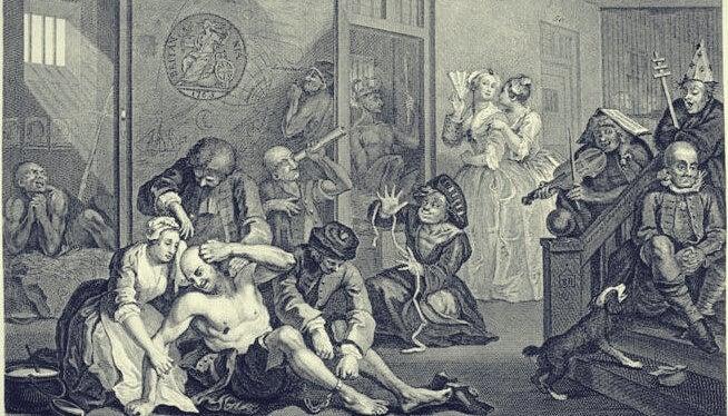 pintura simbolizando el mito de la nave de los locos