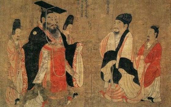 hombres de la china antigua representando las fábulas chinas