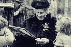 imagen representando las frases de María Montessori
