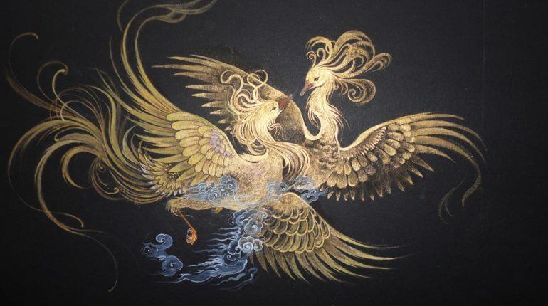 pájaros míticos representando los proverbios persas
