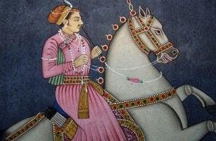 hombre a caballo representando los proverbios persas