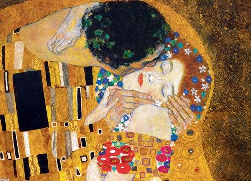 Pintura El beso de Klimt