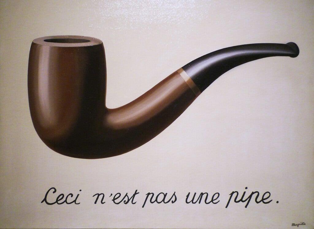 Pipa de Magritte para representar la función semiótica