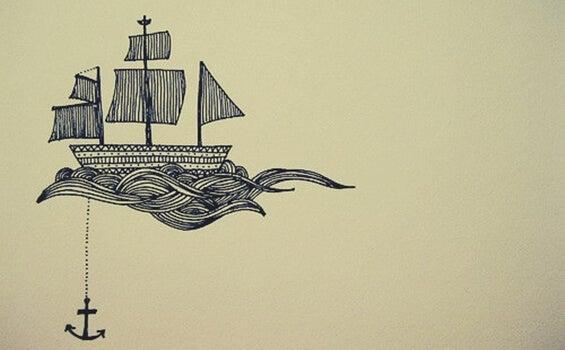 barco representando la fuerza de la presión