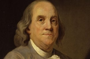 retrato simbolizando las frases de Benjamin Franklin