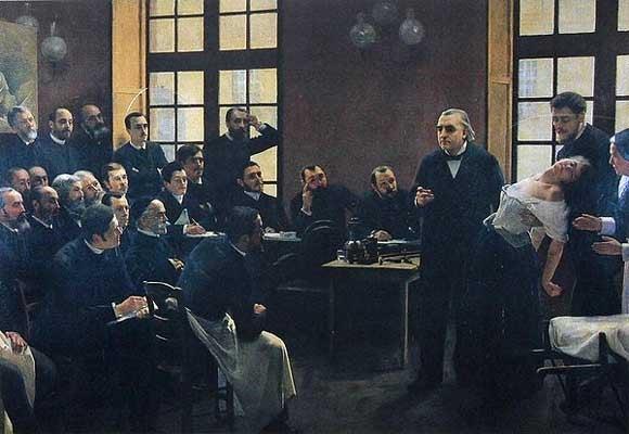 Charcot dando clase